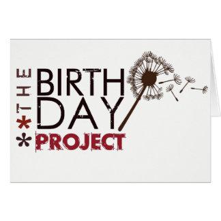 O cartão de nota do projeto do aniversário
