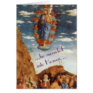 O cartão de páscoa religioso da ascensão
