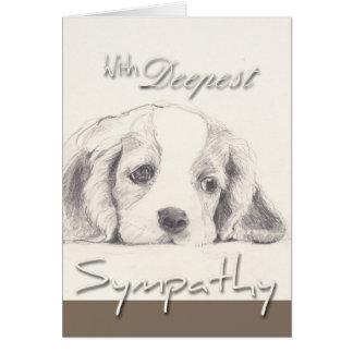 O cartão de simpatia o mais profundo do cão da