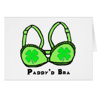 O cartão de St Patrick do sutiã de D da almofada '
