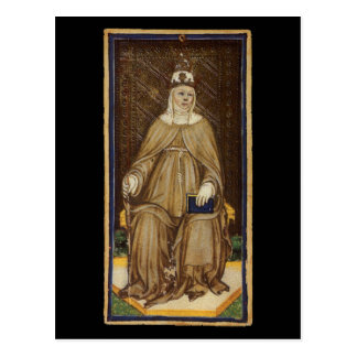 O cartão de Tarot alto da sacerdotisa Cartão Postal