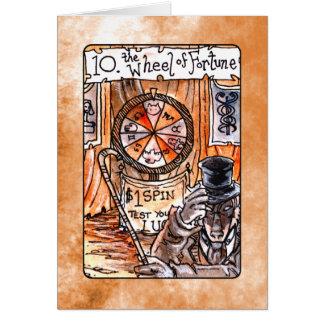 O cartão de Tarot da roda da fortuna