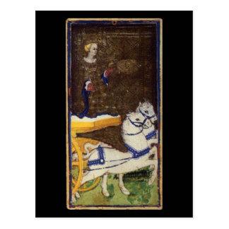 O cartão de Tarot do Chariot Cartão Postal