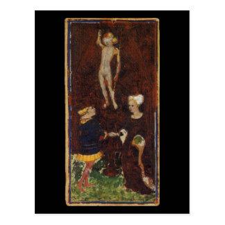 O cartão de Tarot dos amantes Cartão Postal