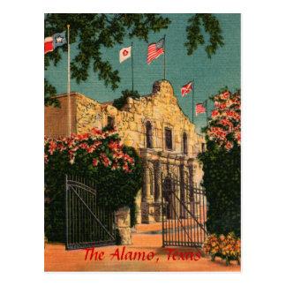 O cartão de Texas do vintage de Alamo Cartão Postal