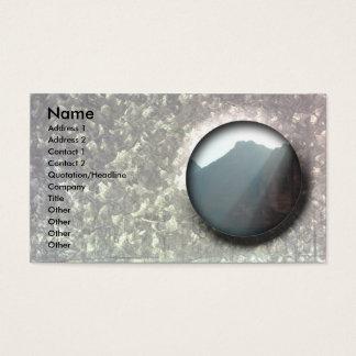 O cartão de visita customizável bonito galvaniza