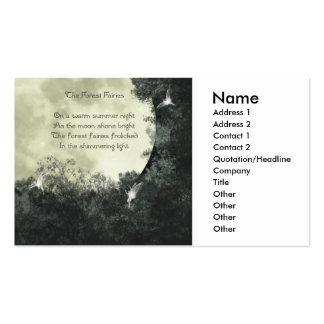 O cartão de visita das fadas da floresta