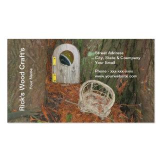 O cartão de visita do artesanato de madeira