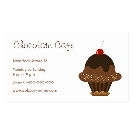O cartão de visita do boutique do chocolate