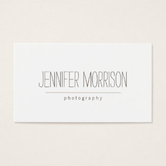 O cartão de visita do fotógrafo escrito à mão