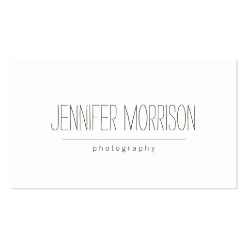 O cartão de visita do fotógrafo escrito à mão orgâ