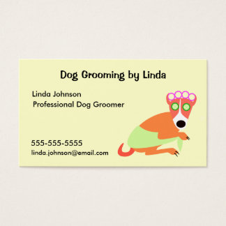 O cartão de visita do Groomer do cão