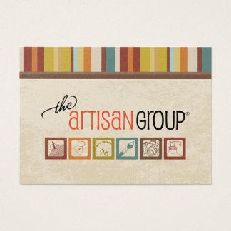O cartão de visita do grupo do artesão