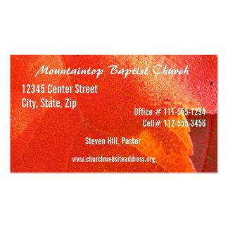 O cartão de visita do pastor