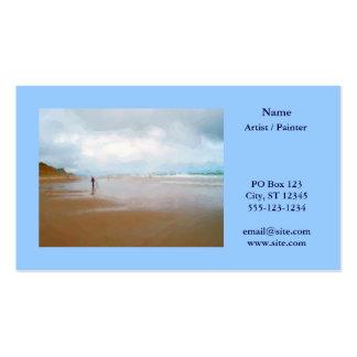 O cartão de visita do pintor