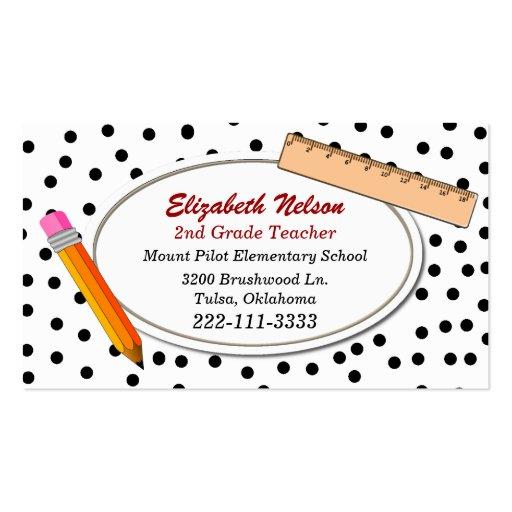 O cartão de visita do professor das bolinhas do di