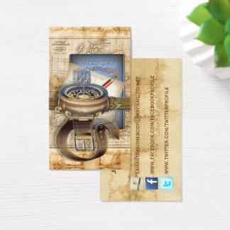O cartão de visita do Social do viajante