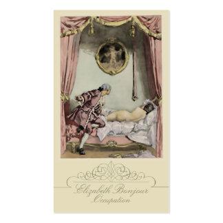 O cartão de visita francês do da cama