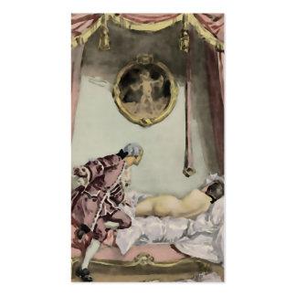 O cartão de visita francês do ~ da cama