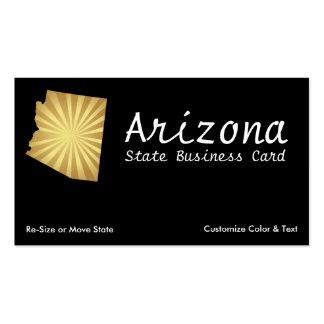 O cartão de visita Sun do estado da arizona