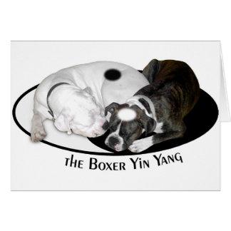 O cartão de Yin Yang do pugilista