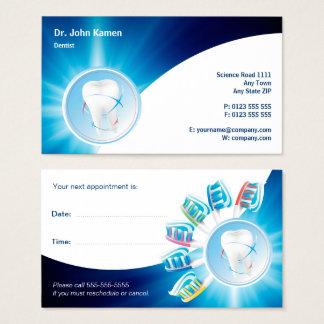 O cartão dental azul | da nomeação personaliza o
