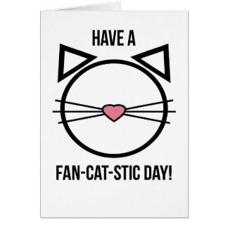 O cartão do amante do gato