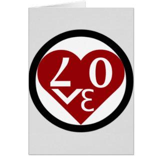 """O cartão do amor do coração """"seja meus namorados """""""