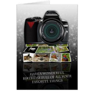 O cartão do aniversário da fotografia