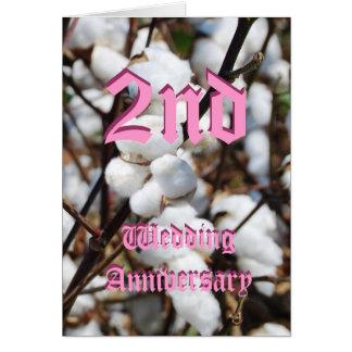 ò cartão do aniversário de casamento - algodão