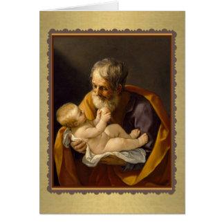 O cartão do banquete de St Joseph personaliza