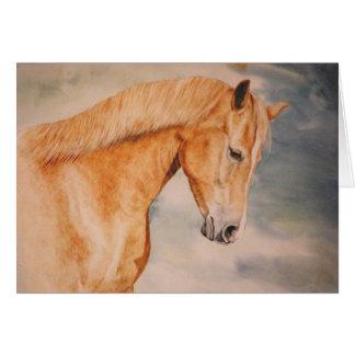 O cartão do cavalo da égua da castanha