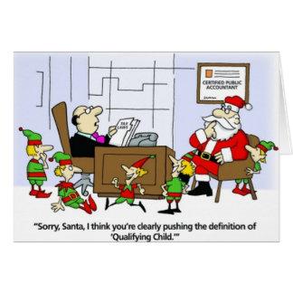 O cartão do contador, papai noel declara o Natal d