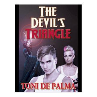 O cartão do desenhista do triângulo do diabo
