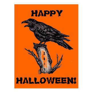 O cartão do Dia das Bruxas do corvo, data pode ser