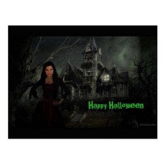 O cartão do Dia das Bruxas do Vamp