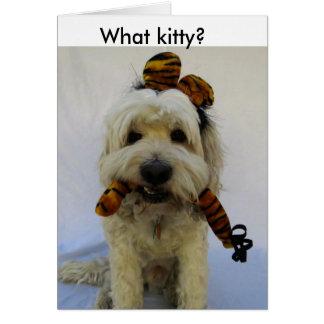 o cartão do Dia das Bruxas, humor, cão come o