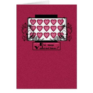 O cartão do dia dos namorados com corações seja me