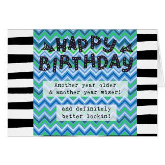 O cartão do feliz aniversario, Humor engraçado