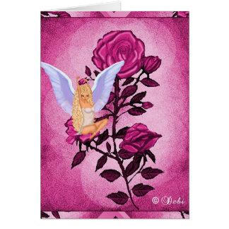 O cartão do jardim da boneca