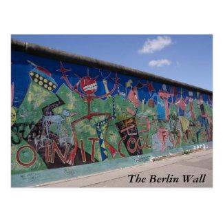 O cartão do muro de Berlim