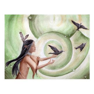 O cartão do nativo americano do cartão dos