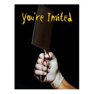 O cartão do partido do Dia das Bruxas convida