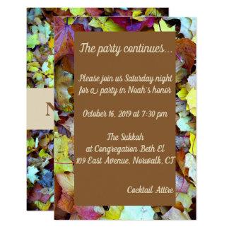 O cartão do partido para a queda sae de Mitzvah