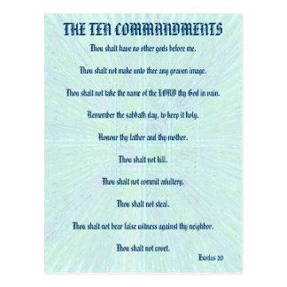 O cartão do respingo do Aqua de dez mandamentos