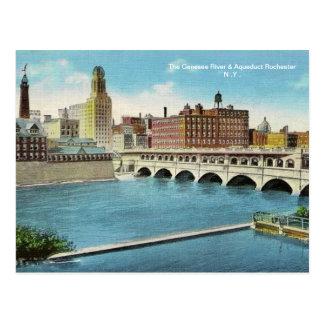 O cartão do rio & do aqueduto de Genesee