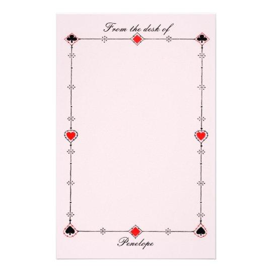 O cartão do vintage sere a beira no rosa com seu