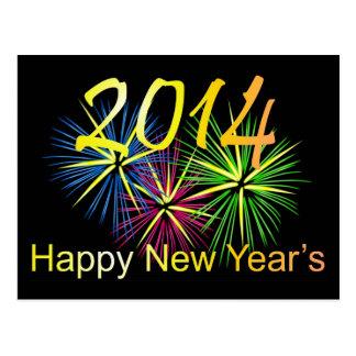 O cartão dos 2014 felizes anos novos cartão postal