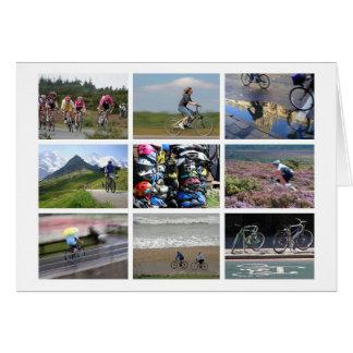 o cartão dos Ciclismo-amantes