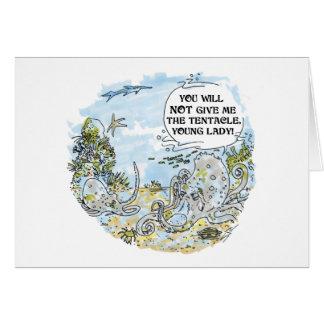 O cartão dos desenhos animados do tentáculo